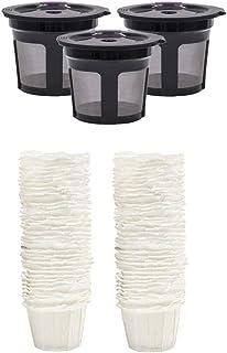 CUTICATE 3ピース/個Kカップ使い捨てコーヒーペーパーフィルターキューリグK550の100パック