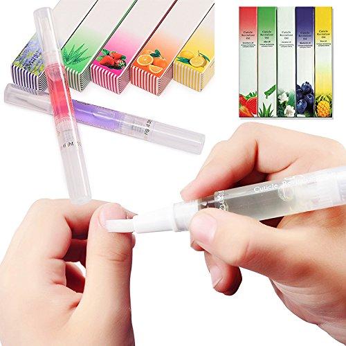 Lot de 12 stylos à ongles transparents et portables