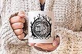 Hobbit - Tazza da porta con scritta 'Il Signore degli Anelli', 425 ml, motivo: The Hobbit | Tazza da caffè Tolkien | Fantasy Fan 425 ml
