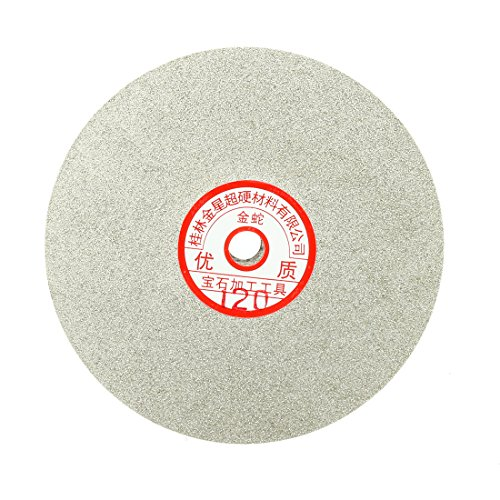 uxcell 6-inch Grit 120 Diamond Coated Flat Lap Wheel Grinding Sanding Polishing Disc