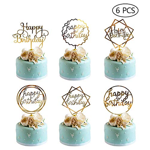 UK 1 PC x Confettis Cake Topper Ballons Or Rose Rose Bleu or Argent Decor UK