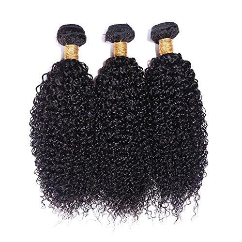 Meylee Postiches Meylee 6 a cheveux vierges brésiliens vague profonde 3 faisceaux totalement 300 grammes Mix longueur 100 % cheveux humains brésiliens Weave 10 12 14