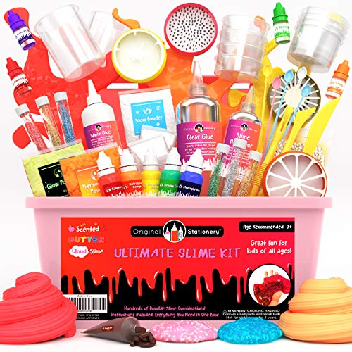 Original Stationery Ultimate Slime para Niñas, Niños - Slime Kit Completo Unicornio con Activador, Cola, Glitter para Slime Fluffy, Nube, Mantequilla, Foam - Regalos Cumpleaños