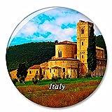 Italia Toscana Abadía de Prato Imán de Nevera, imán Decorativo, Ciudad turística, Viaje, colección de Recuerdos, Regalo, Pegatina Fuerte para Nevera