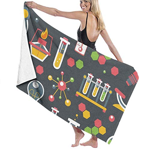Ewtretr Toalla de Playa Chemical Super Absorbent Bath Towel