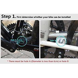 "Tinxi ® Pata de Cabra para Bicicletas Ajustable para 20"" 24"" 26"", Color Negro"