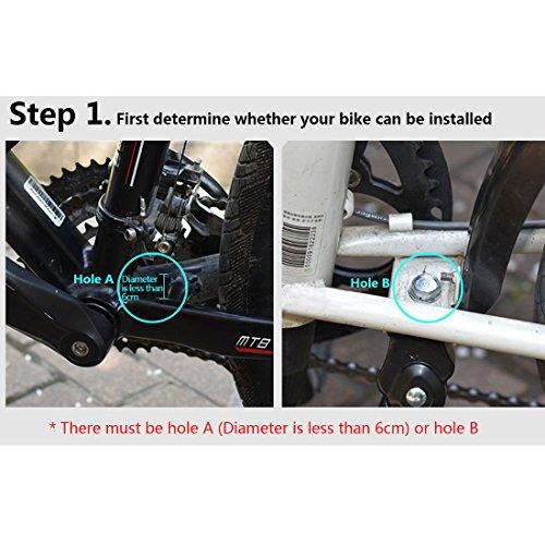 tinxi® Fahrradständer Seitenständer Hinterbau Mittelbau verstellbar 24″ 26″ Universal mit Anti-Rutsch Gummifuß Aluminiunlegierung - 3