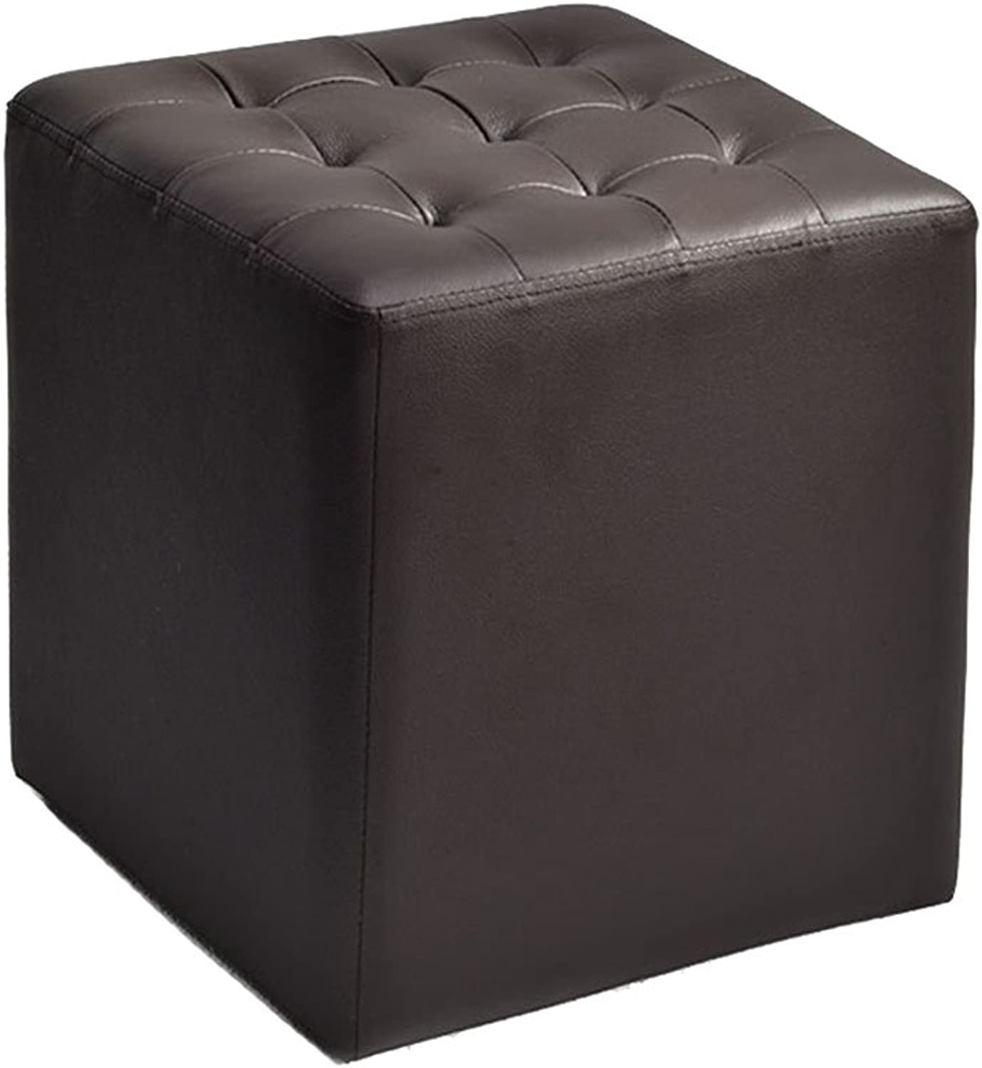 Footstools, Stool Padded Footstool Leather shoes Bench for Bedroom Living Room Balcony