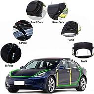 Motrobe Tesla Model 3 Model Y Door Seal Kit Soundproof Rubber Weather Draft Wind Noise Reduction Kit Model 3 Model Y Accessories