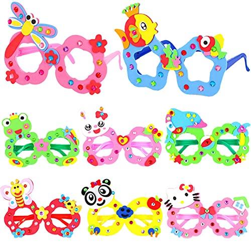 TLBBJ Juguetes artesanales DIY EVA Gafas Marco Bebé Niños Niños Educativo Material Material Material Puzzles Arts and Crafts Juguetes para niños Infantil Sencillo (Color : Random 3pcs)