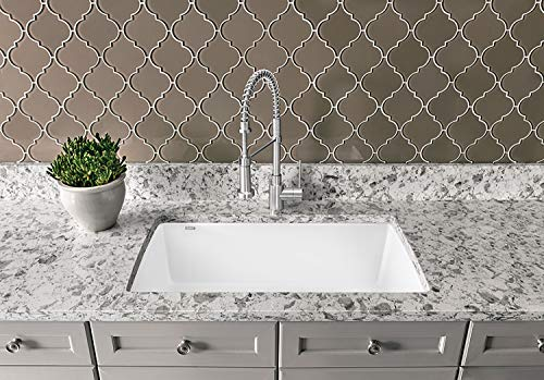 "BLANCO 440195 Diamond Super Single Silgranit Drop-in or Undermount Kitchen Sink, 32.5"" X 22"", White"