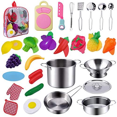 Jionchery 26 Pcs Kitchen Toys Se...
