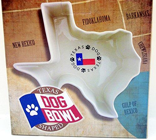 Texas Shaped Dog Bowl