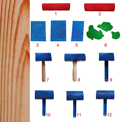 Holzmaserung Reliefrolle Strukturwalze Effektwalze Putzwalze Musterwalze