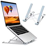 "Laptop Stand, STOON Laptop Holder Riser Computer Stand, Aluminum 9-Angles Adjustable Ventilated Cooling Notebook Stand Mount Compatible with MacBook Air Pro, Lenovo, Dell, More 10-15.6"" Laptops"