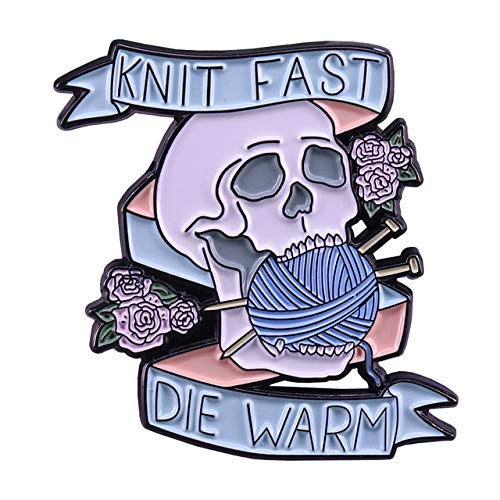 Lindo crochet Yan EnamelKnit Fast Die Warm Broche tejido Kniter Flair Jewelry-07