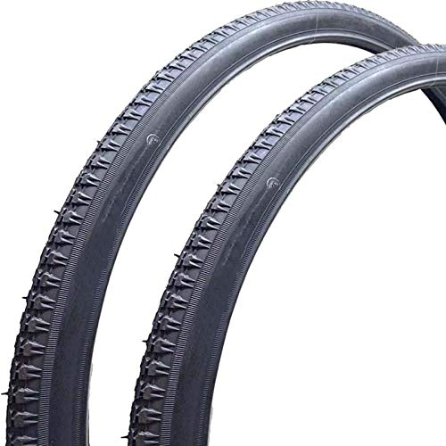 ZQTHL 26' X 1-3/8 Traditional Bike Tyres (Pack of 2) Traditional Style, Great for Classic Roadsters
