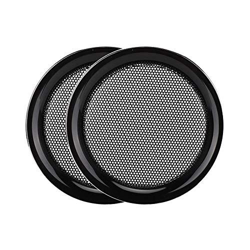 Argento Mini Sistema Audio Griglia Altoparlante Copertura Griglia Protettiva per Altoparlante ASHATA Altoparlante Griglia Coperchio Altoparlante da 2 Pollici Decorazione Cerchio Griglia
