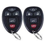 Keyless Entry Remote Control Car Key Fob for 2007-2016 Chevy Suburban Tahoe Traverse/Buick Enclave/GMC Acadia Yukon/Cadillac Escalade FCC ID: OUC60270, OUC60221(5Btn 2 Pcs)