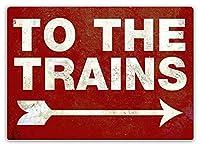 電車 金属板ブリキ看板警告サイン注意サイン表示パネル情報サイン金属安全サイン
