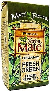 Organic Yerba Mate, Fresh Green, Loose Herb Tea, 2 Packs (12 oz (340 g))