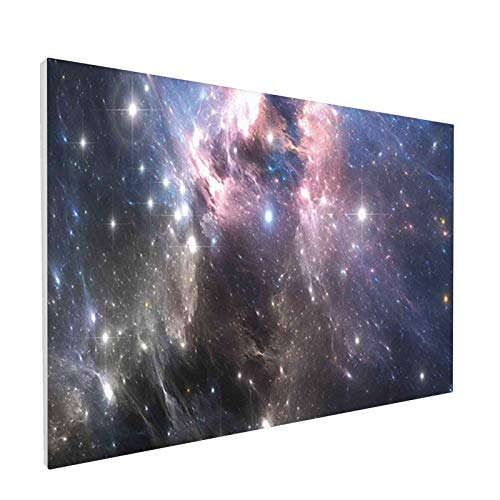 Home Decor Bathroom Wall Art Watercolor Canvas Prints,Giant Nebula in Vivid Colors Space Motion Supernova Futuristic,Painting Framed Stretched Pictures 12x18 Inches