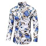 HDDFG Camisa de otoño para hombre, camisa de diseño único, camisa de manga larga estampada a rayas, camisa de oficina informal ajustada para hombre, M-7XL (Color : D, Size : 3XL code)