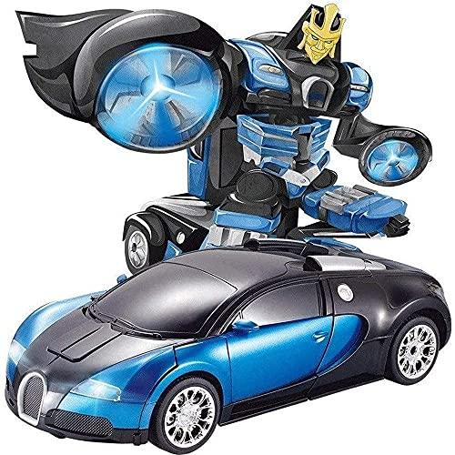 ZHANGDAGE 2.4G RC Vehículo Robots Deformación Deformación Robot De Coche 1/16 Radio De Detección Inteligente De Gestos RC Eléctrico Recargable Regalo De Cumpleaños De Navidad Para Niños Y Niñas, Hobby