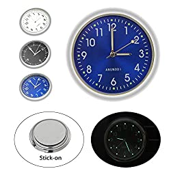 Car Clock, EEEKit Luminous Quartz Analog Watch Universal Pocket Mini Stick-On Clock for Car Boat Bike Home