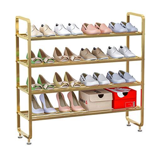 MICEROSHE Zapatero Conveniente Bolsa de Almacenamiento de Zapatos Rack de Zapatos para Zapatos de 4 Capas de 4 Capas. Regalos para el Hogar (Color : Gold, Size : 80x28x70cm)