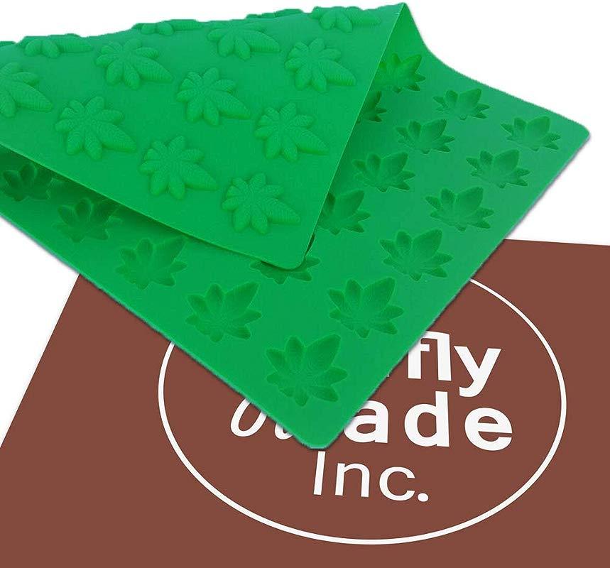 Marijuana Leaf Mold Edible Gummies Candy Mold 54 Cavities Truffly Made