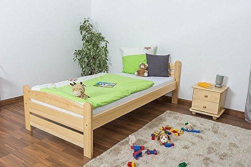 Kinderbett   Jugendbett Kiefer massiv Vollholz natur 84, inkl. Lattenrost - Abmessung 90 x 200 cm
