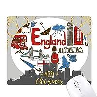 イングランドの愛の心の英国国旗 クリスマスイブのゴムマウスパッド