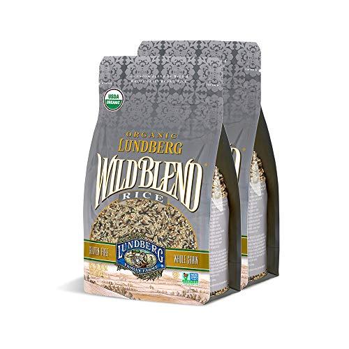 Lundberg Family Farms - Organic Wild Blend Rice, Pantry Staple, Whole Grain Blend of Black, Brown, Red, & Wild Rice, Non-GMO, Gluten-Free, USDA Certified Organic, Vegan, Kosher (32 oz, 2-Pack)