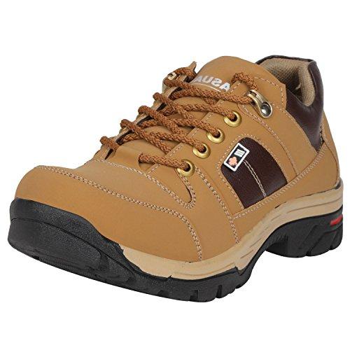 Kraasa Men's Beige Closed-toe Shoes - 6 UK