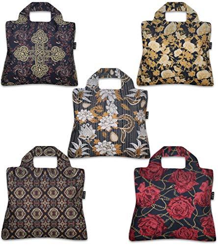 Envirosax Royal Rock wiederverwendbare Einkaufstaschen, mehrfarbig, 5 Stück
