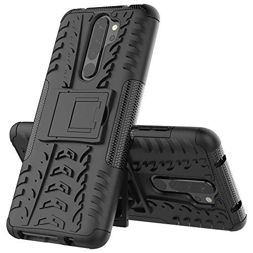 Capa Capinha Anti Impacto Para Xiaomi Redmi Note 8 Pro Tela 6.53Case Armadura Hybrid Reforçada Com Desenho De Pneu - Danet (Preto)