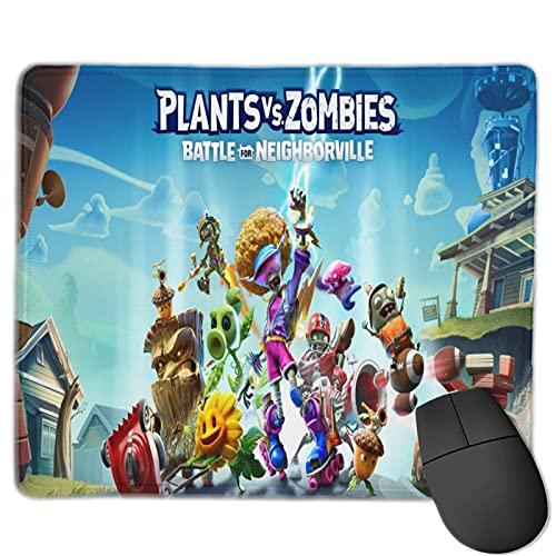 Plants Vs. Zombies The Mouse Pad Alfombrilla de mesa de juego, cómoda alfombrilla de ratón, almohadilla de microfibra ultrafina, base de goma antideslizante