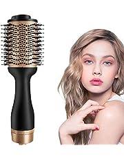 Hårtork, uppgradera 5 i 1 stylingborste hårtork och volymstyler varmluftsborste negativ jon hårborste stylingborstar varmluftskam för alla hårtyper stylare för kvinnor och män