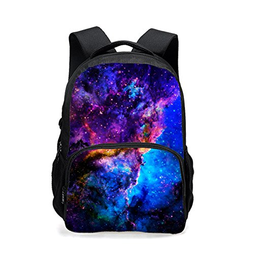 backpack teen,CAIWEI Universe Space TrendyMax Galaxy Pattern Backpack Cute for School (Starry sky 6)