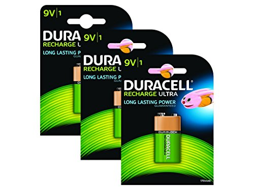 Duracell Rechargeable ultra 9V Battery - Pack of 3