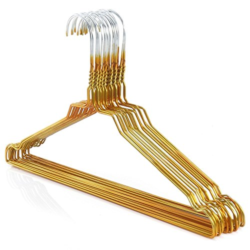 HANGERWORLD 50 Grucce Appendiabiti 40cm in Metallo Colorate Dorate Salvaspazio per Casa e Lavanderia