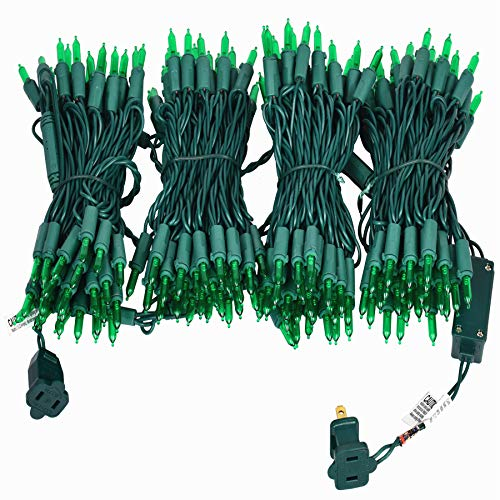 200 Green Outdoor Lights String, Green Wire Lights String 66 Ft, UL Certified New Always On LED Lights Set, for Indoor and Outdoor Party, Spring, Garden.