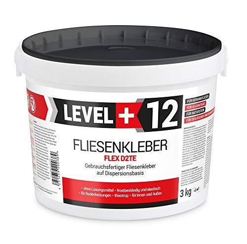 3 kg Fertig Fliesenkleber Steinkleber Flexmörtel Weiß Innen Außen Dispersions-Kleber RM12