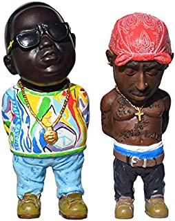 tupac and biggie figurines