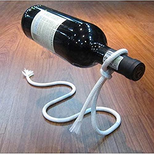 Soporte De Vino Flotante Suspending Cuerda Estante De Vino Titular De La Botella Regalo Mágico Para La Cocina Decoración De La Mesa De La Casa Diseño Mecánico Creativo (conjunto De 2)