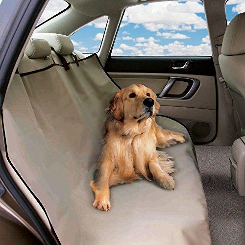 Telo auto per cani copri sedili impermeabile protezione coprisedile vari colori. MEDIA WAVE store (Beige)