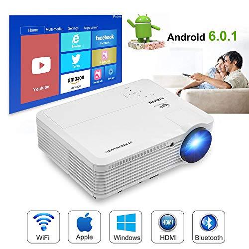 Proyector de cine en casa (4500 proyector 1080p WiFi Bluetooth)