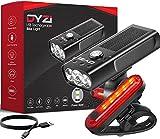 DYZI Juego de Luces de Bicicleta Recargables por USB Fácil de...