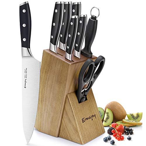 Emojoy Ensemble de 8 Couteaux de Cuisine...